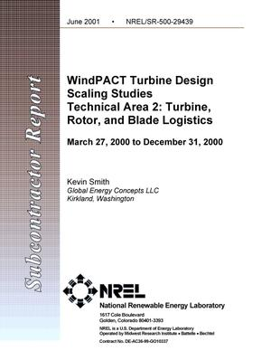Primary view of object titled 'WindPACT Turbine Design Scaling Studies Technical Area 2: Turbine, Rotor and Blade Logistics'.