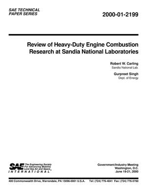 Primary view of object titled 'Review of Heavy-Duty Engine Combustion Research at Sandia National Laboratories'.