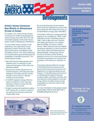 Primary view of object titled 'Building America Developments Newsletter - Special Issue, October 2000'.