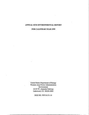 Primary view of object titled 'Annual site environmental report for calendar year 1999'.