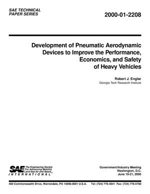 Primary view of object titled 'Development of Pneumatic Aerodynamic Devices to Improve the Performance, Economics, and Safety of Heavy Vehicles'.