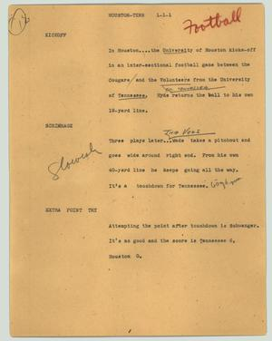 Primary view of object titled '[News Script: Houston-Tenn]'.