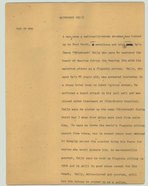 Primary view of object titled '[News Script: Shipwreck Kelly]'.