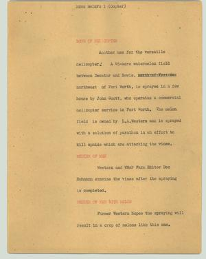 Primary view of object titled '[News Script: News briefs 1 (copter)]'.