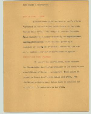 Primary view of object titled '[News Script: News briefs 3 (convention)]'.