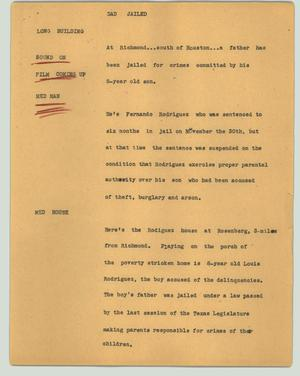 Primary view of object titled '[News Script: Dad jailed]'.