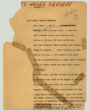 Primary view of object titled '[News Script: Tornado]'.