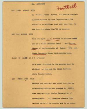 Primary view of object titled '[News Script: All Americans]'.
