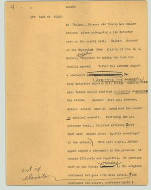 Primary view of object titled '[News Script: Walker]'.
