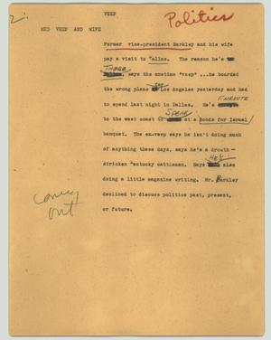 Primary view of object titled '[News Script: Veep]'.