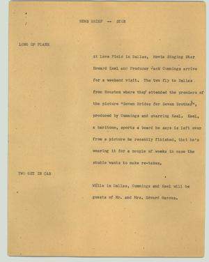 Primary view of object titled '[News Script: News brief - star]'.