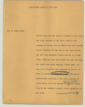 Primary view of object titled '[News Script: Handicapped Worker of the Year]'.