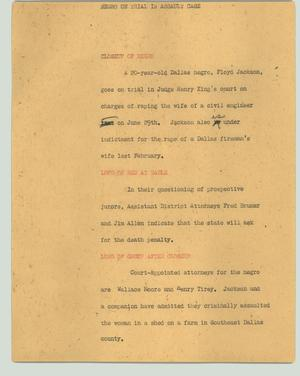 Primary view of object titled '[News Script: Man on trial in assault case]'.