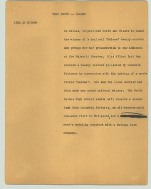 Primary view of object titled '[News Script: News brief - Salome]'.