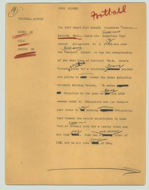 Primary view of object titled '[News Script: High scorer]'.