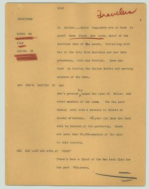 Primary view of object titled '[News Script: Scot]'.