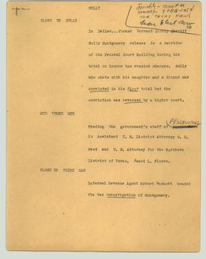 Primary view of object titled '[News Script: Sully]'.