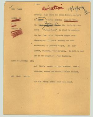 Primary view of object titled '[News Script: Tibbs]'.