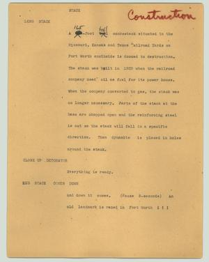 Primary view of object titled '[News Script: Stack]'.