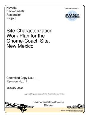 Primary view of object titled 'Site Characterization Work Plan for the Gnome-Coach Site, New Mexico (Rev. 1, January 2002)'.