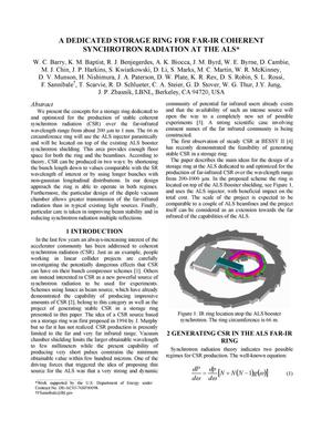 Primary view of object titled 'A dedicated storage ring for Far-IR coherent synchrotron radiation at the ALS'.