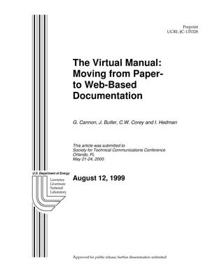 Primary view of object titled 'The Virtual Manual: Moving from Paper- to Web-Based Documentation'.