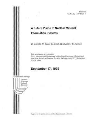 Primary view of object titled 'A Future Vision of Nuclear Material Information Systems'.