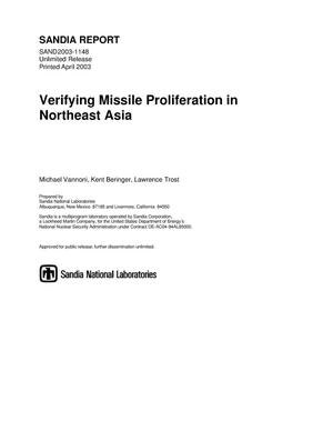 Primary view of object titled 'Verifying Missile Non-Proliferation in Northeast Asia'.