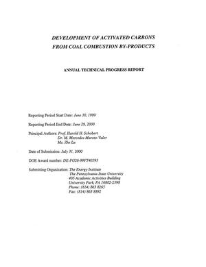 Primary view of object titled 'DEVELOPMENT OF ACTIVATED CARBONS FROM COAL COMBUSTION BY-PRODUCTS'.