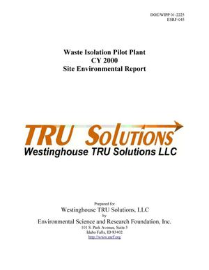 Primary view of object titled 'Waste Isolation Pilot Plant CY 2000 Site Environmental Report'.
