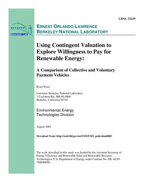 Primary view of object titled 'Using contingent valuation to explore willingness to pay for renewable energy: A comparison of collective and voluntary payment vehicles'.
