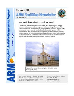 Primary view of object titled 'Atmospheric Radiation Measurement Program facilities newsletter, October 2002.'.