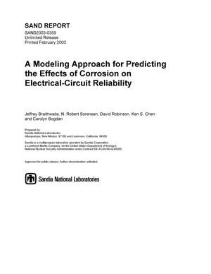 Primary view of object titled 'A Modeling Approach for Predicting the Effect of Corrosion on Electrical-Circuit Reliability'.