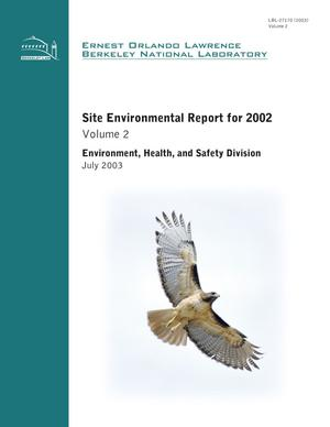 Primary view of object titled 'Site Environmental Report for 2002, Volume 2'.