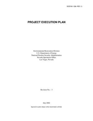 Primary view of object titled 'Project Execution Plan, Rev. 3'.