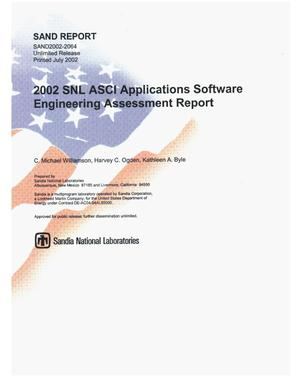 Primary view of object titled '2002 SNL ASCI Applications Software Engineering Assessment Report'.