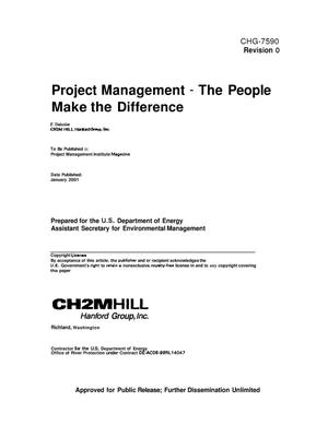 Primary view of object titled 'Project Management - The People Make the Difference'.