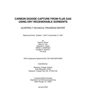 Primary view of object titled 'CARBON DIOXIDE CAPTURE FROM FLUE GAS USING DRY REGENERABLE SORBENTS'.