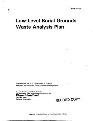 Primary view of object titled 'Low-Level Burial Grounds Waste Analysis Plan'.
