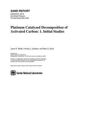 Primary view of object titled 'Platinum Catalyzed Decomposition of Activated Carbon: 1. Initial Studies'.