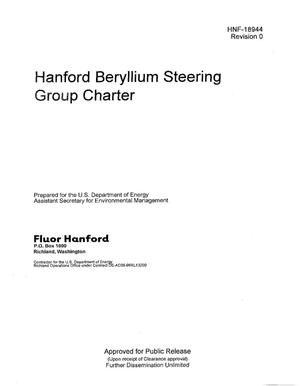 Primary view of object titled 'HANFORD BERYLLIUM STEERING GROUP CHARTER'.