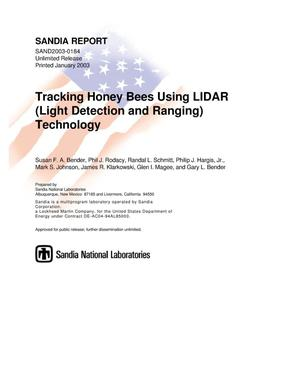 Primary view of object titled 'Tracking Honey Bees Using LIDAR (Light Detection and Ranging) Technology'.