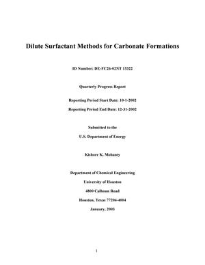 Primary view of object titled 'DILUTE SURFACTANT METHODS FOR CARBONATE FORMATIONS'.
