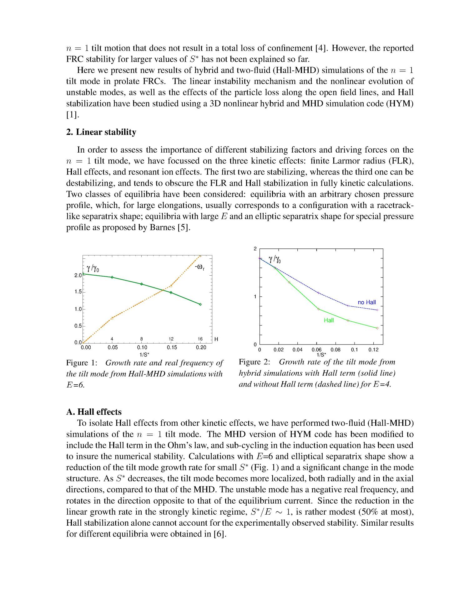 Nonlinear and Non-ideal Effects on FRC Stability                                                                                                      [Sequence #]: 4 of 10