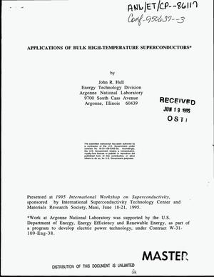 Primary view of object titled 'Applications of bulk high-temperature superconductors'.
