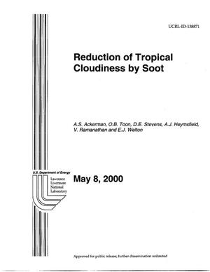 Primary view of object titled 'Reduction of Tropical Cloudiness by Soot'.