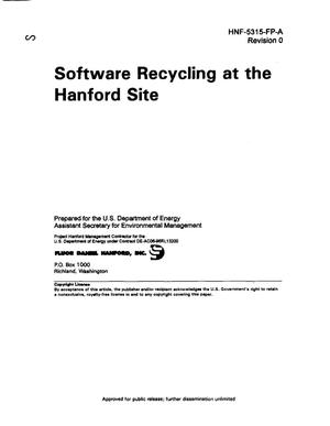 Primary view of object titled 'Software recycling at the Hanford Site'.