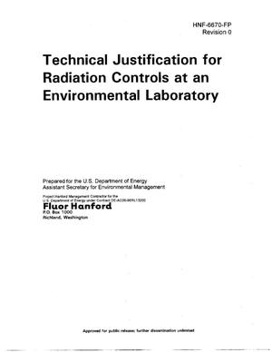 Primary view of object titled 'Technical Justification for Radiation Controls at an Environmental Laboratory'.
