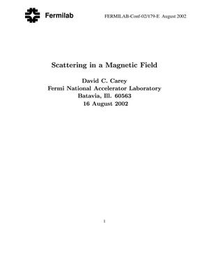 Primary view of object titled 'Scattering in a magnetic field'.