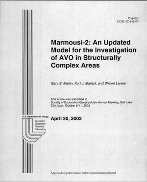 Primary view of object titled 'Marmousi-2: An Updated Model for the Investigation of AVO in Structurally Complex Areas'.